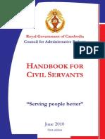 Cambodian Civil Servant Handbook