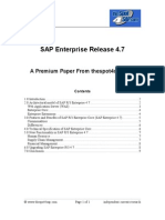 SAP Enterprise 4.7 20091009