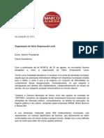 Declaração de voto dos vereadores do movimento Sintrenses Com Marco Almeida sobre a reorganização do sector empresarial local