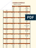 Air Uganda Flight Schedule