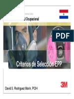 Criterios de selecciвn EPP