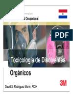 Toxicologбa de disolventes orgаnicos