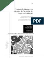 A confusão de línguas e os desafios da psicanálise de grupo em instituiçãoo
