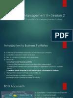 Gyanesh Strategic Management II – Session 2