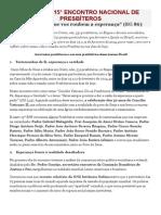 CARTA DO 15 Enc. Nacional dos Presbíteros 2014