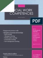 social work competencies melody pendleton