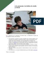 Cómo desarrollar la autonomía y los hábitos de estudio en los niño
