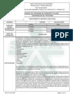 Programa de Formación MANTENIMIENTO MECÁNICO INDUSTRIAL VERSION 1