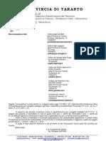 Seconda Convocazione PTCP Taranto