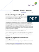 2015 Project - How can we increase giving to charities?