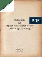 Auswärtiges Amt - Weissbuch Nr. 4 - Dokumente zur englisch-französischen Politik (1940)
