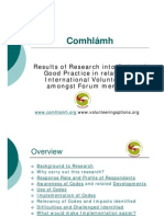 EURO 2008 Comhlamh Research Codes of Good Practice