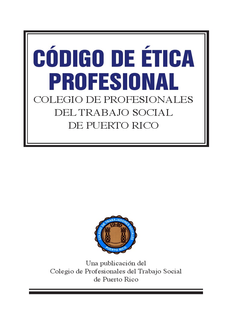 CODIGO DE ETICA PROFESIONAL Trab.Soc