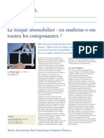 Deloitte Risque Immobilier LSF15