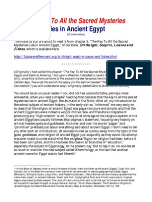 The Key to All Sacred Mysteries Lies in Ancient Egypt