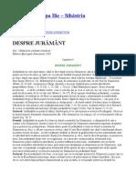 Parintele Cleopa - DESPRE JURAMÂNT