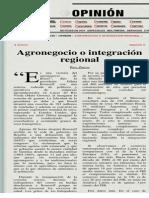 La Jornada_ Agronegocio o integración regional