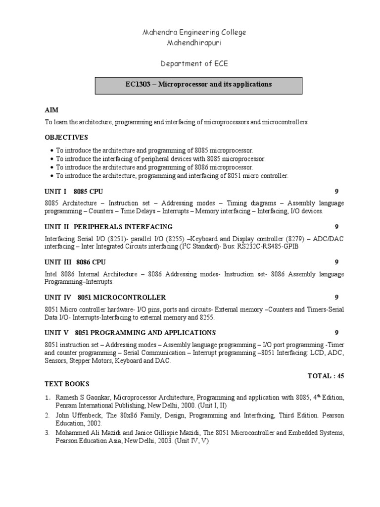 Microprocessor 8085 programming examples pdf