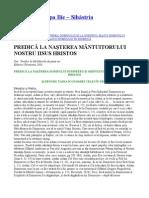 Parintele Cleopa - PREDICA LA NASTEREA MÂNTUITORULUI NOSTRU IISUS HRISTOS