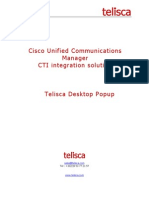 telisca Desktop Popup - caller info on your computer desktop - cisco IP Phone application
