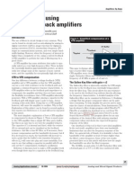 Active Filters Using Current-feedback Amplifiers