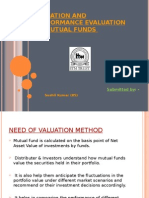 Valuation and Performance Evaluation of Mutual Funds