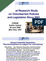 EURO 2008 UNV Research Policy Regulatory Framework