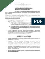 pautas para docentes - inicio del ao lectivo 2014