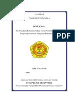 Form Permohonan Pendaftaran Pencalonan Kepala Desa