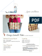 Sewing Pattern - Lunch Tote