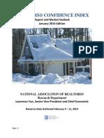 Realtors Confidence Index Report January 2014