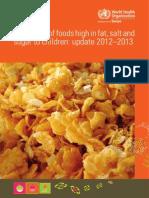 World Health Organization Report - Children & Food