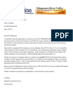esy welcome letter