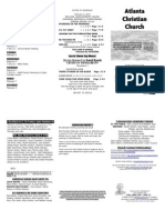 February 2, 2014 Trifold Bulletin