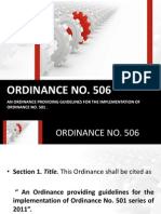 Ordinance No 506
