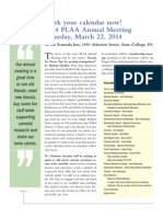 2014 PLAA Annual Meeting Agenda