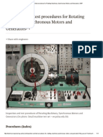 Inspection and Test Procedures for Rotating Machinery, Synchronous Motors and Generators _ EEP