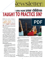 Are You Sure You Want Your Children TAUGHT TO PRACTICE SIN?