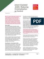 DPA Fact Sheet Law Enforcement Assisted Diversion LEAD Feb2014