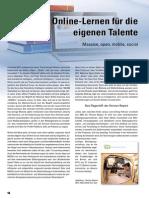Online-Lernen für die eigenen Talente. Massive, open, mobile, social