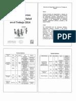 Catálogo de cursos en Seguridad y Salud en el Trabajo 2014