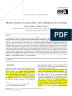 Micelle Formation and Solubilization