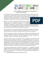 Comunicado / Criminalización de la manifestación (Convergencia por los Derechos Humanos)