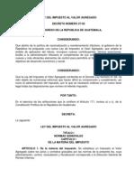 Ley Del Impuesto Al Valor Agregado IVA Decreto 27-92 Guatemala