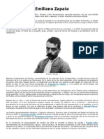 Emiliano Zapata y Venustiano Carranza Biografia en Resumen.