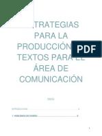 Estrategias Para La Produccion de Textos en Educacion