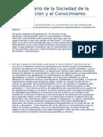 Cuestionario de la Sociedad de la Información y el Conocimiento