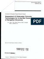 Assement of Underwater Concrete Technologies USACE