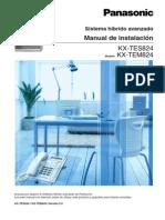 Manual Panasonic TES824