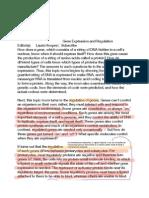 gene protein and regulation